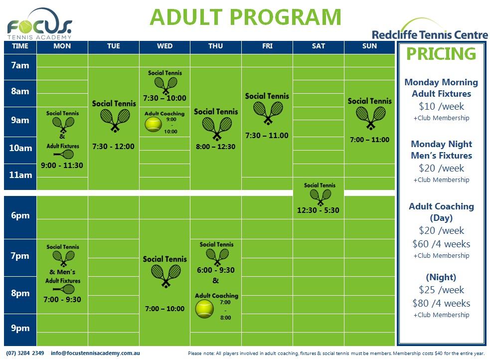 2017 adult program